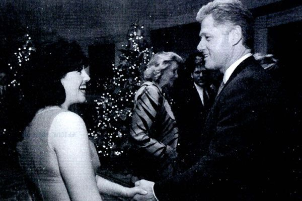 MONICA & BILL - Monica Lewinsky & President Bill Clinton - White House Christmas Party.