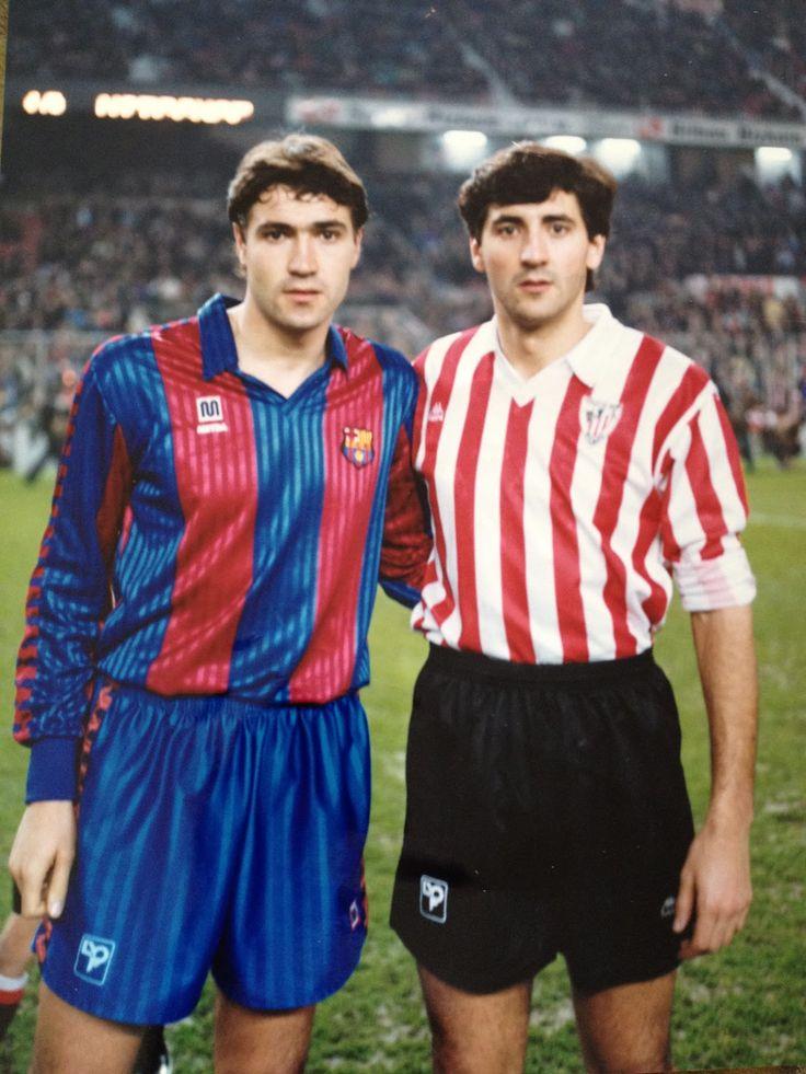 Julio Salinas y Patxi Salinas se vieron las caras en un Ath.Bilbao-Barcelona el 25 de Enero de 1992.