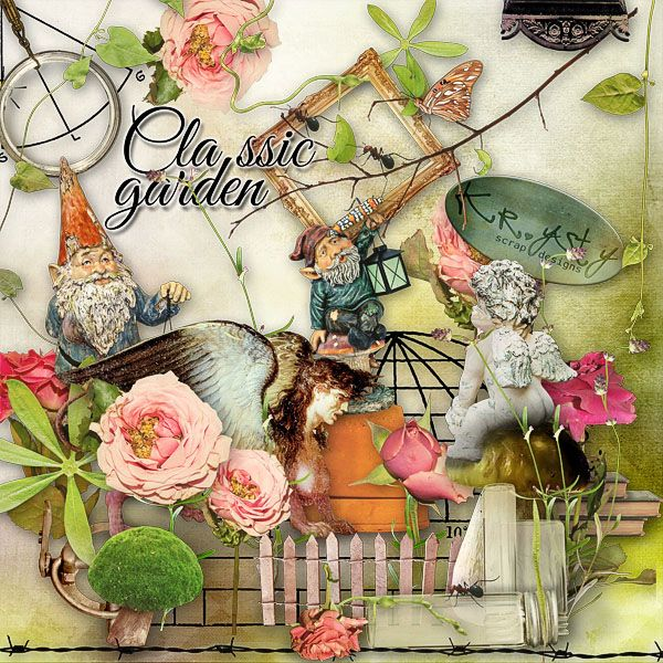 Classic Garden  #digitalcollage #digital #art #photomanipulation #artjournaling #scrapbook #summer #garden