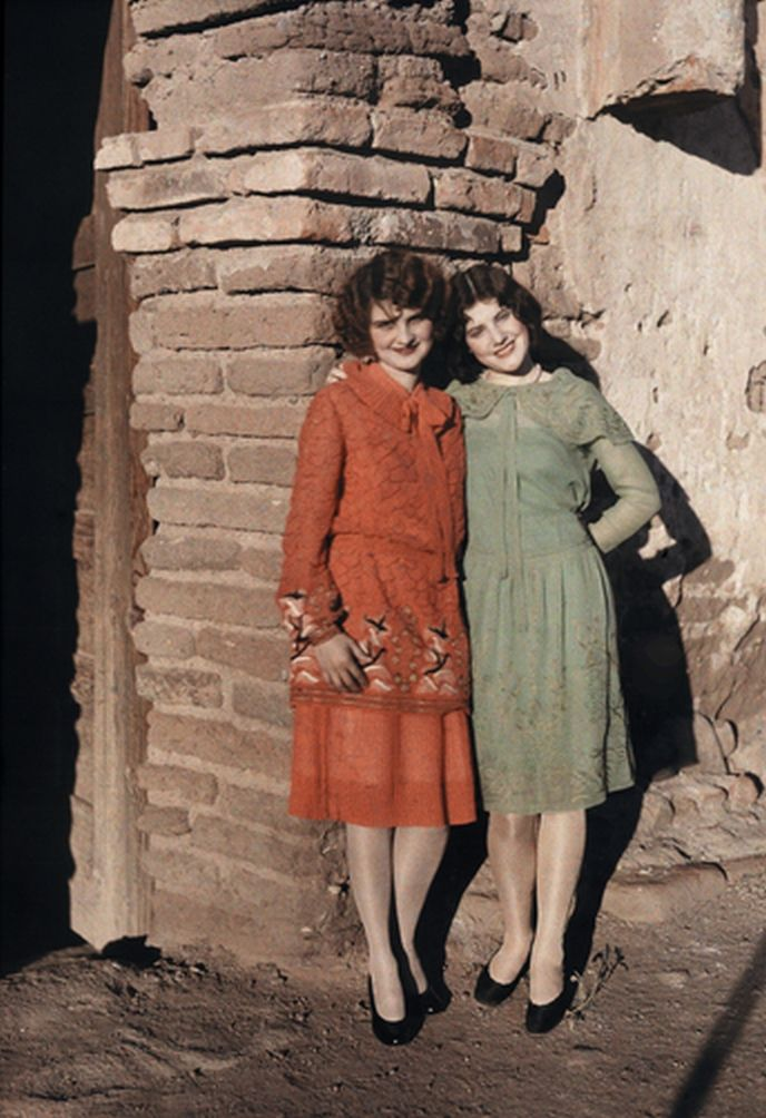1920's, but the National Geographic Stock Online have some stunning color photographs for sale of late 1920s women from different parts of the world - all