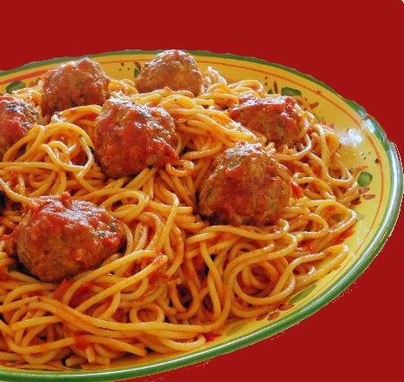 One Perfect Bite: Spaghetti and Meatballs - slightly different from ...