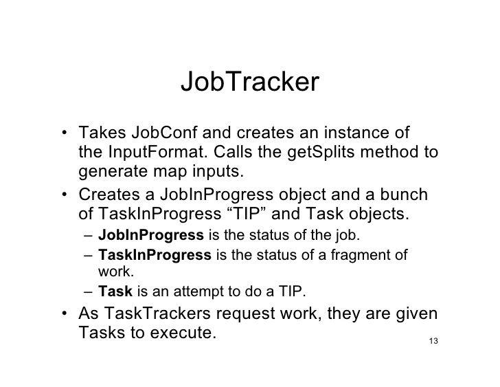 JobTracker