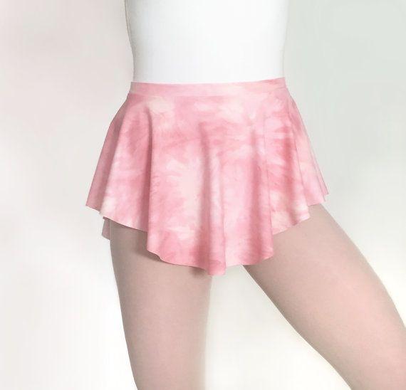 Ballet Skirt Pink Tie-Dye Print  Lycra/Spandex SAB Dance