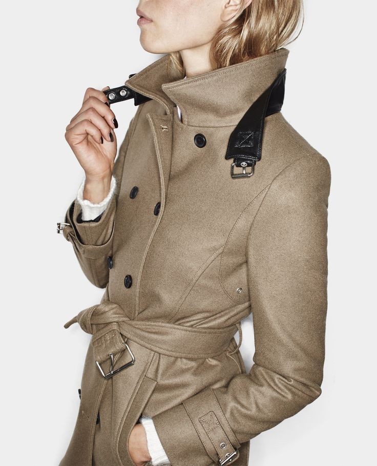 Wool trench coat - Coats - Woman - The Kooples