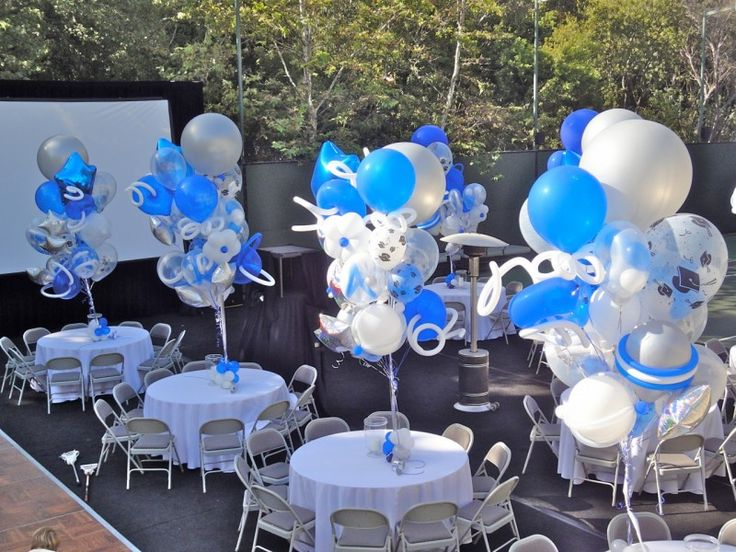Blue Party Decorating Ideas 123 best balloon decor images on pinterest | balloon decorations