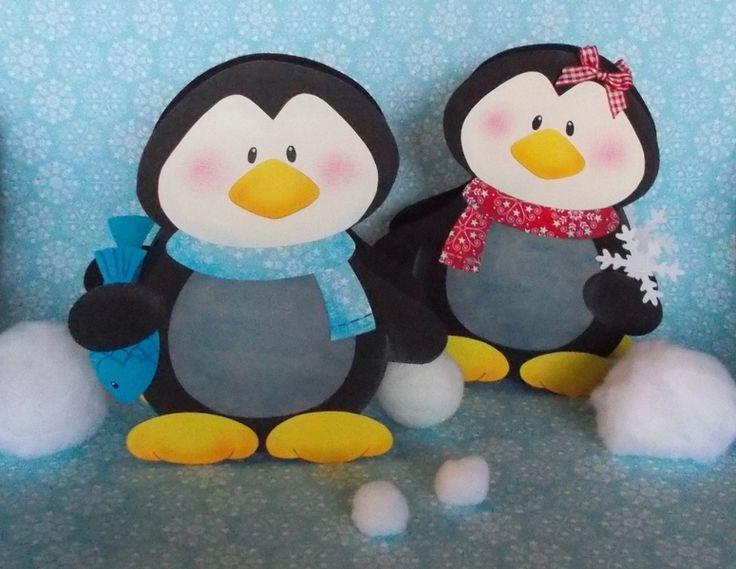 Laterne Pinguin Pepe & Paula (Windlicht) von fRAU kNUFFIG auf DaWanda.com