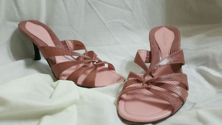Cole haan womens shoes pink kitten heels mules Sz 8.5 B dusty rose leather | Clothing, Shoes & Accessories, Women's Shoes, Heels | eBay!