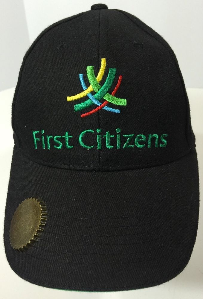 First Citizens Bank Strapback Hat Beer Opener Black Advertising Baseball Cap | eBay