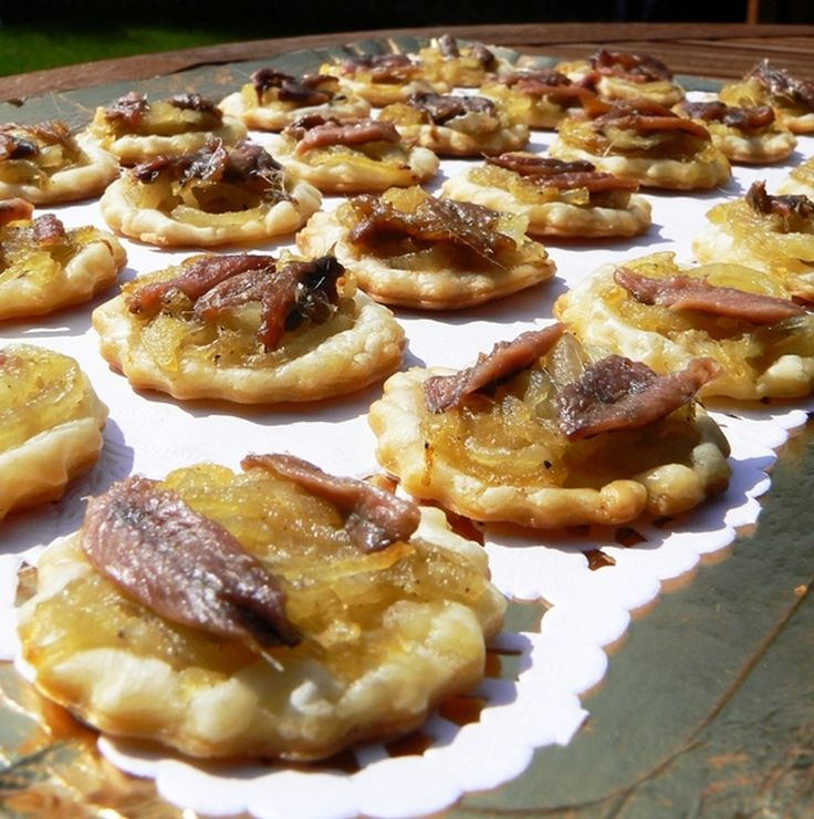 Mini-pissaladière #recette #tarte #facile