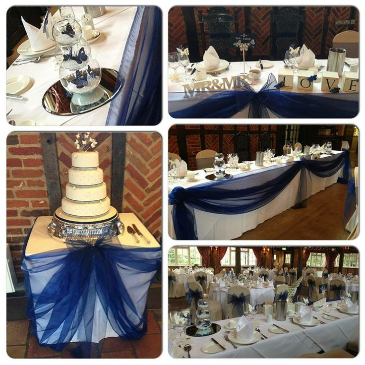 www.facebook.com/weddingfinds for wedding decor ideas.  This is a royal blue wedding decor by us at Balloon Decor www.facebook.com/balloondecoressex