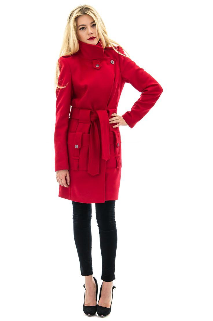manteau cachemire manteau rouge manteau mode manteau femme stefanie renoma - Manteau Femme Color