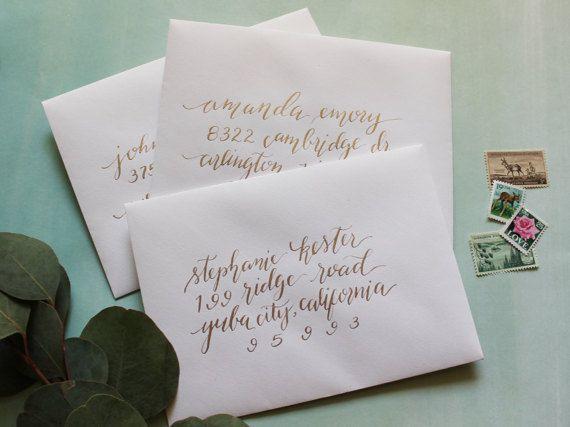 Hand Calligraphy Envelopes // Hand Addressed Wedding Envelopes ...