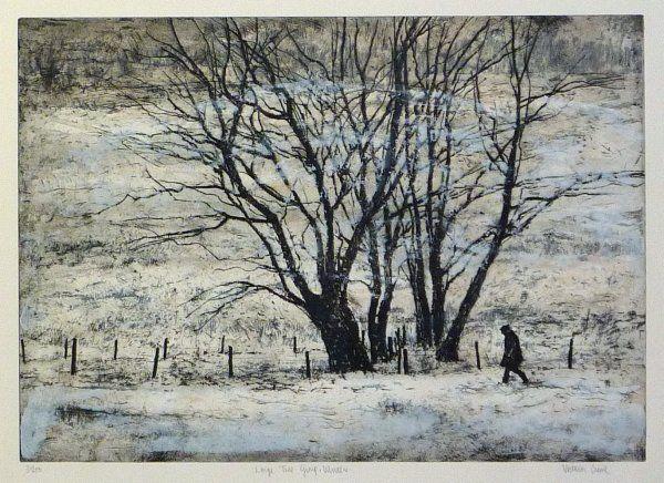 Large Tree Group Winter - Victoria Crowe