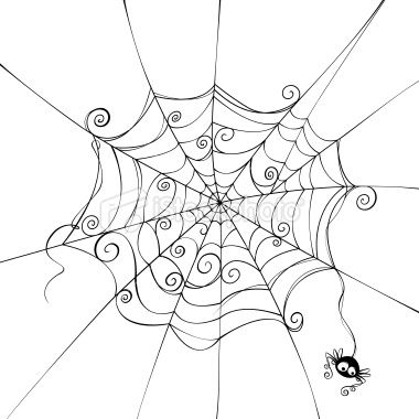 Spooky spider web Royalty Free Stock Vector Art Illustration