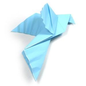 origami page | How to make a traditional origami dove: page 1  http://www.origami-make.com/traditional-origami-dove.php