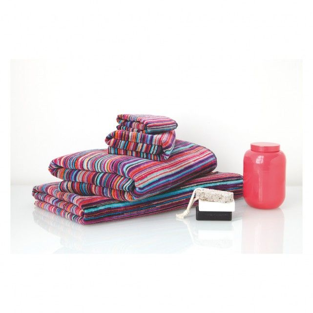 SHADI Bright stripe hand towel | Buy now at Habitat UK