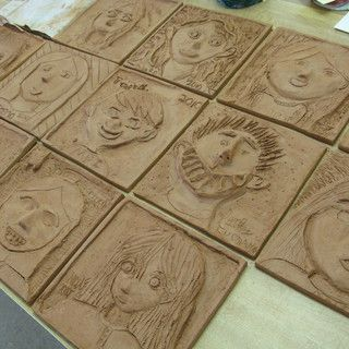 Fifth Grade Students Create Relief Sculpture Self-PortraitsAfter many years of drawing self-portraits, the fifth-graders have been asked to create one more image of themselves in an 8-inch square tile. The clay tiles show a form of relief sculpture where the...