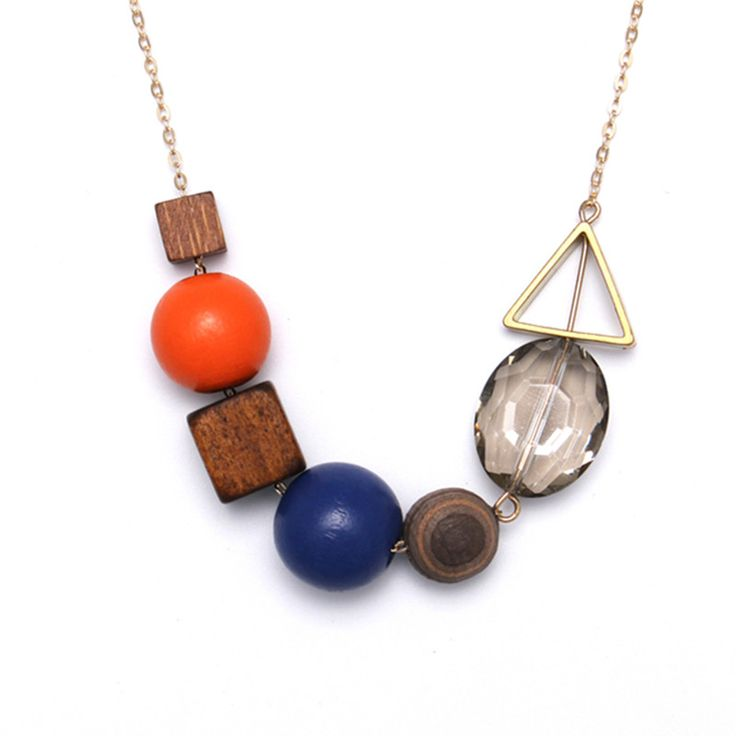 Cheap necklace wholesale, Buy Quality necklace cute directly from China beaded necklaces for women Suppliers: Unique Wood Pendant Necklaces Cute Alloy Hollow Triangular Trendy Round Bead Necklace For Women Jewelry Wholesale