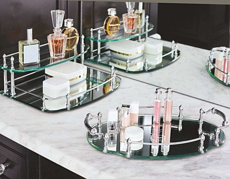 Our Belmont Personalized Oval Vanity Tray is an exquisite showcase for perfumes, jewelry, or bath accessories. This tray's distinctive style adds elegance to your vanity.