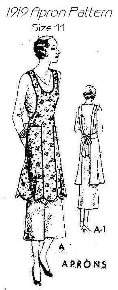 New Pellon Easy Pattern 1919 Vintage Apron Pattern Size Bust 44