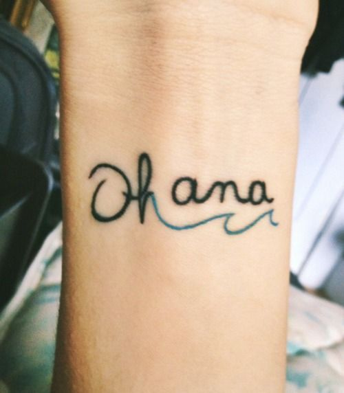 add a caption | We Heart It | tattoo, ohana, and family