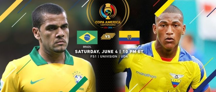 Copa America 2016 Group B Preview & Prediction Brazil vs Ecuador Predicted Line Up