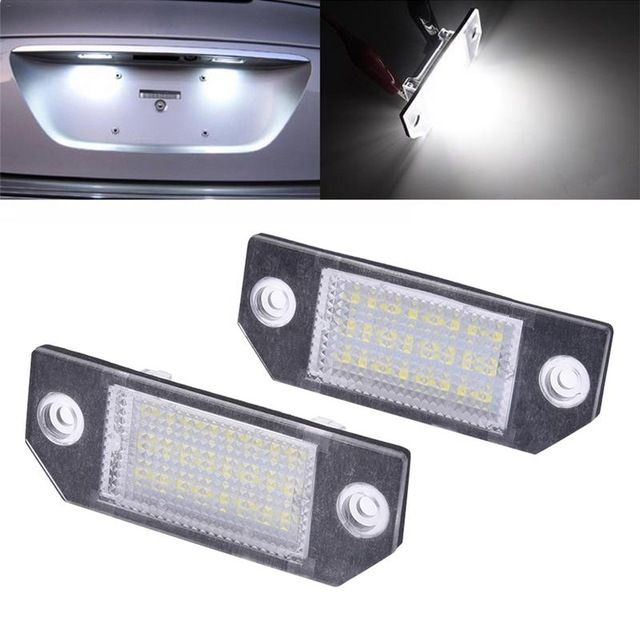 2pcs Dc 12v Car Led Light License Number Plate Light 6w 24 Led White Light For Ford Focus 2 C Max Auto Signal Lamp Review Car Led Lights Car Led Ford Focus