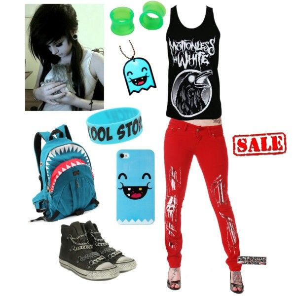 emo outfitOrdinary Clothing, Emo Clothing, Band Outfits, White Outfits ...
