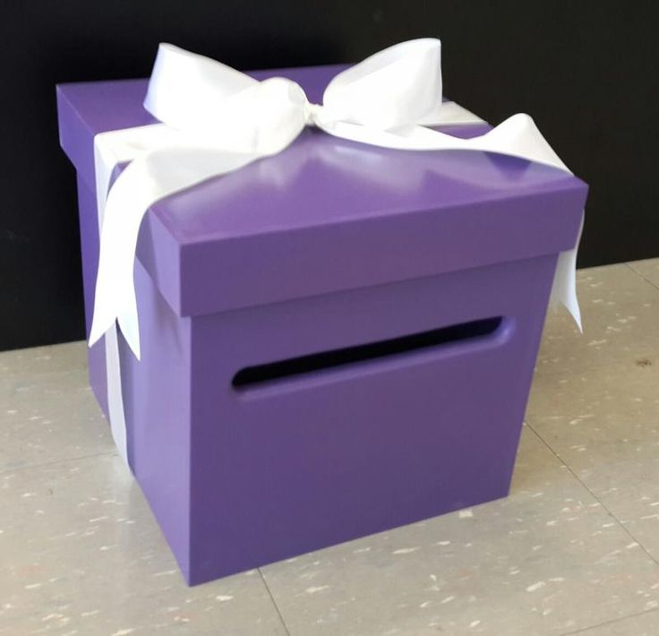 Wedding  Purple Wishing Well Timber Box - WeddingWish.com.au