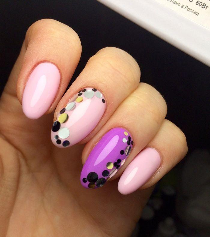 Гель-лак простой дизайн ногтей картинки
