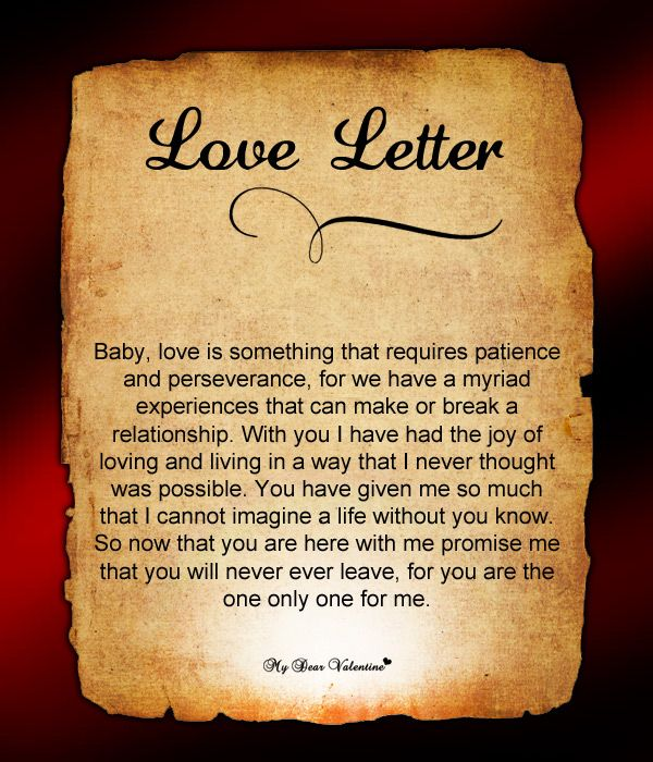 Love letter for him #100
