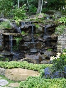 how can a waterfall environment enhance my landscape see more landscape design ideas by mary
