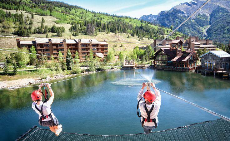 Colorado ziplining at Copper Mountain Resort