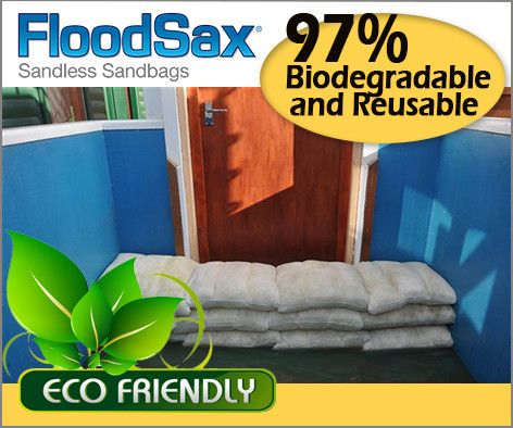 The best reusable sandless sandbag on the market.  FloodSax.