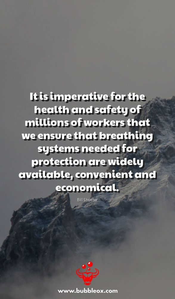 """It is imperative for the health and safety of millions of workers that we ensure that breathing systems needed for protection are widely available, convenient and economical."" -Bill Shuster  bubbleox.com/ #health #healthcare #wellness #healthylifestyle #HealthyFood #HealthyLiving #healthandwellness #healthandfitness #HealthForAll #healthtips #healthychoices #HealthisWealth #awareness"