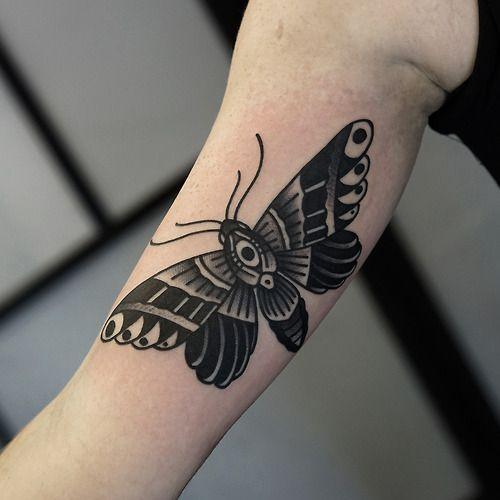 Tatuagem Braço Old School Borboleta