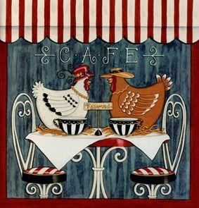clipart imagem decoupage Chicken 16