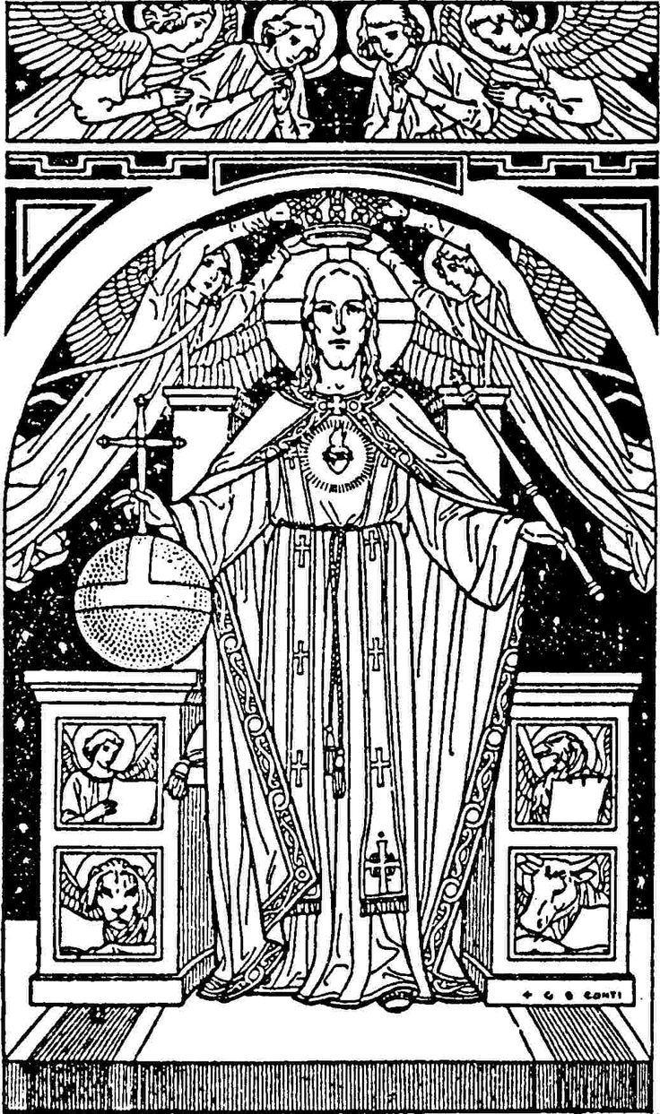 roman catholic saints coloring pages - photo#28
