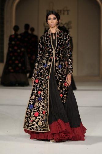 By designer Rohit Bal. Shop for your wedding trousseau, with a personal shopper & stylist in India - Bridelan, visit our website www.bridelan.com #Bridelan #rohitbal #lakmefashionweek