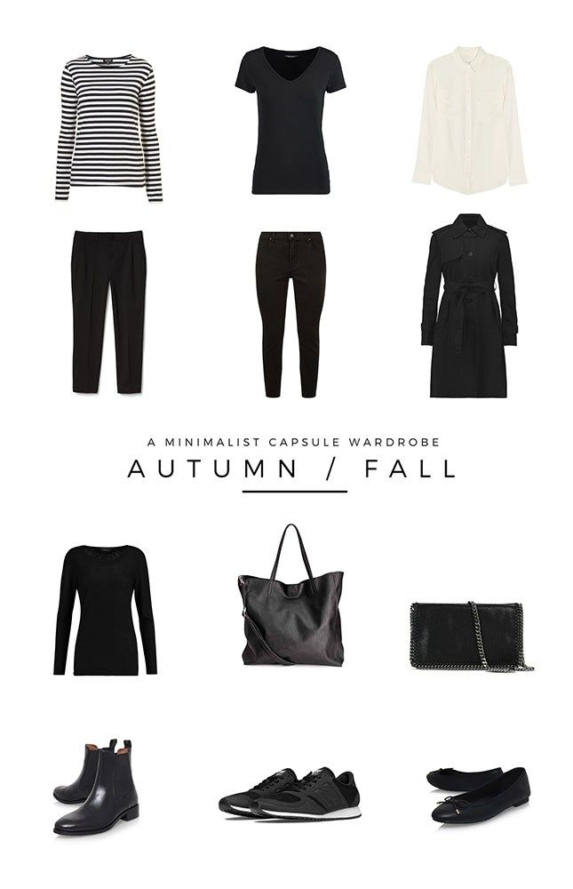 A Minimalist Autumn Fall capsule wardrobe based on my favourite styles and what I'll be wearing this season