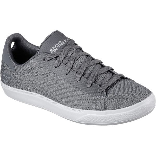 Skechers Men's Skechers Govulc 2 - Eminent Gray - Skechers Performance... ($70) ❤ liked on Polyvore featuring men's fashion, men's shoes, men's sneakers, grey, mens mesh shoes, mens walking sneakers, mens lace up shoes, skechers mens shoes and mens grey sneakers