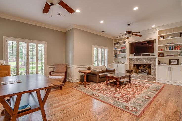 All you need is a good book and a crackling fire! This fireplace is inside 9470 S Spring Hollow Ln S, Germantown, TN 38139