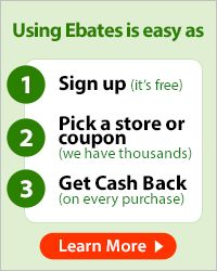 Sign up on Ebates.com and get cash back rewards for online shopping! Why am I just now finding this out!!