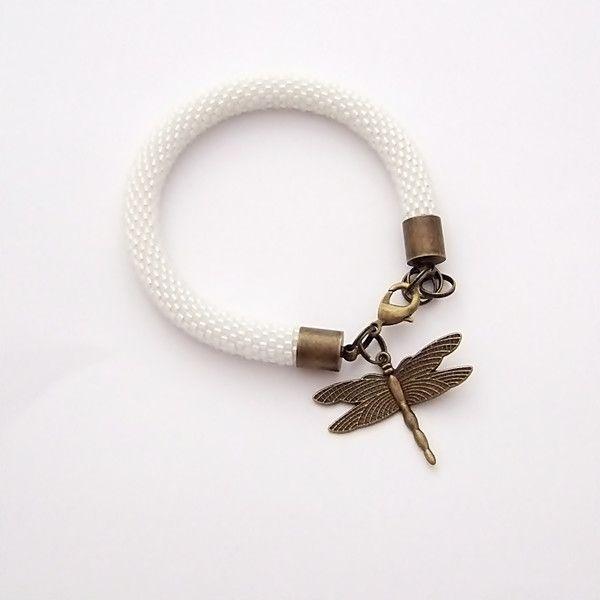 Bransoletka wąż biała w NaLeMi na DaWanda.com