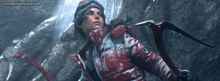 rise of tomb raider in snow suit Facebook Cover InstallTimelineCover.com