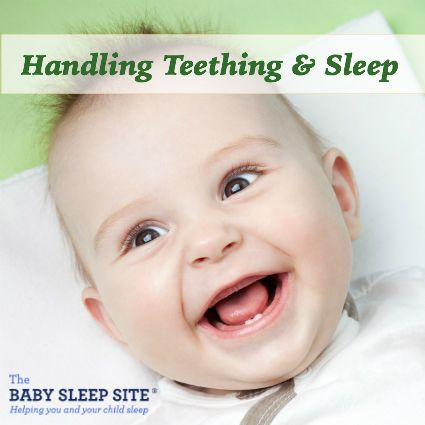 Babies can begin to teethe as early as just a few months old, but it might take awhile before the actual tooth even appears. Some babies never show many signs of teething apart from drooling and chewing on everything while others will get fussy and cranky as the tooth is popping through. Some babies will sleep through it all while others will have numerous night wakings. Some experts have said it will not disrupt sleep, but I wholeheartedly disagree. As everything else, all babies are ...