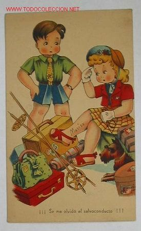 TARJETA POSTAL INFANTIL (Postales - Niños)