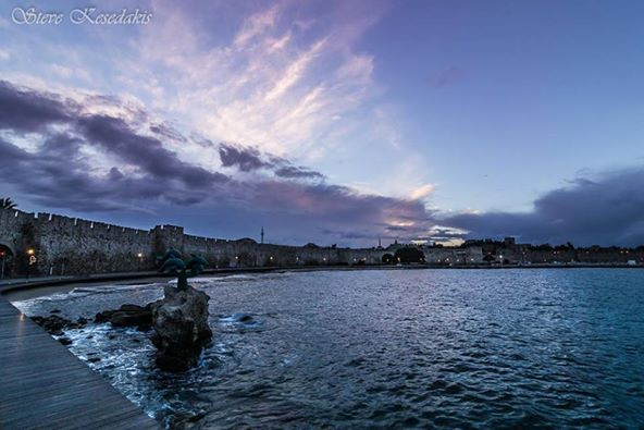 Beautiful colors of the #Winter Rhodian sky!!! #Rodos #Rhodes #Greece