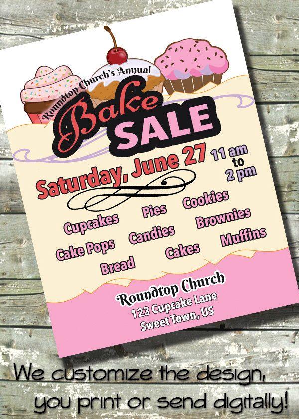BAKE SALE Flyer Event Poster ~ Fundraiser Flyer ~ Digital Invite Invitation by DitDitDigital on Etsy https://www.etsy.com/listing/234370569/bake-sale-flyer-event-poster-fundraiser