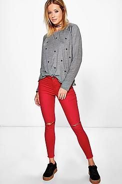 Ally High Rise Tube Jeans